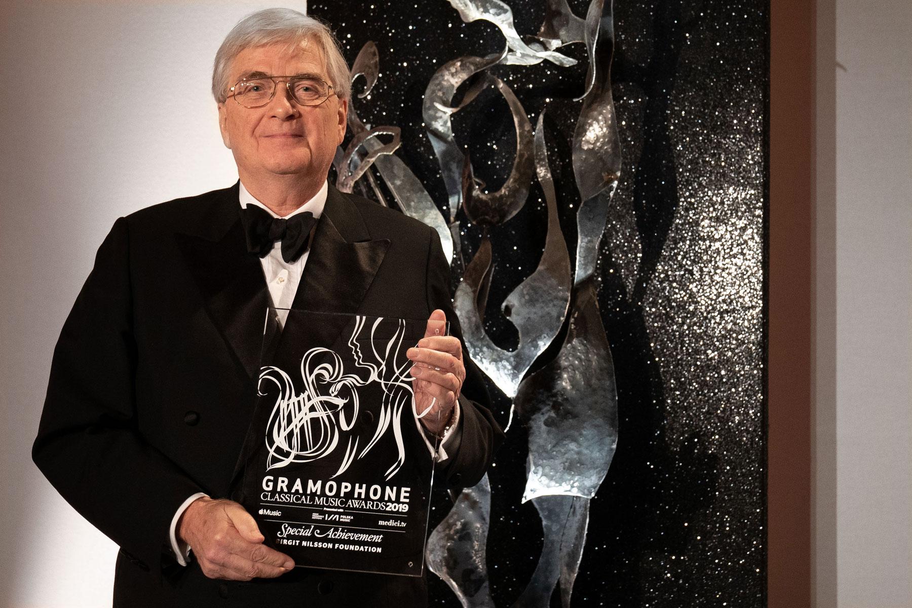 Birgit Nilsson Foundation receives Special Achievement Award at Gramophone Awards for centenary celebration
